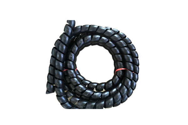 Hydraulic hose spiral protective sleeve equipment